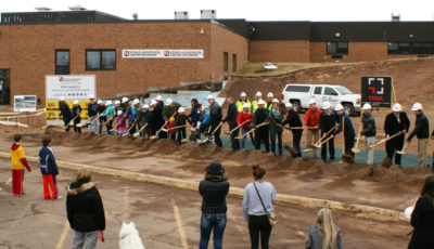 Photo of Hermantown Middle School ground-breaking