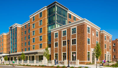 Exterior photo of 17th Avenue Residence Hall at University of Minnesota