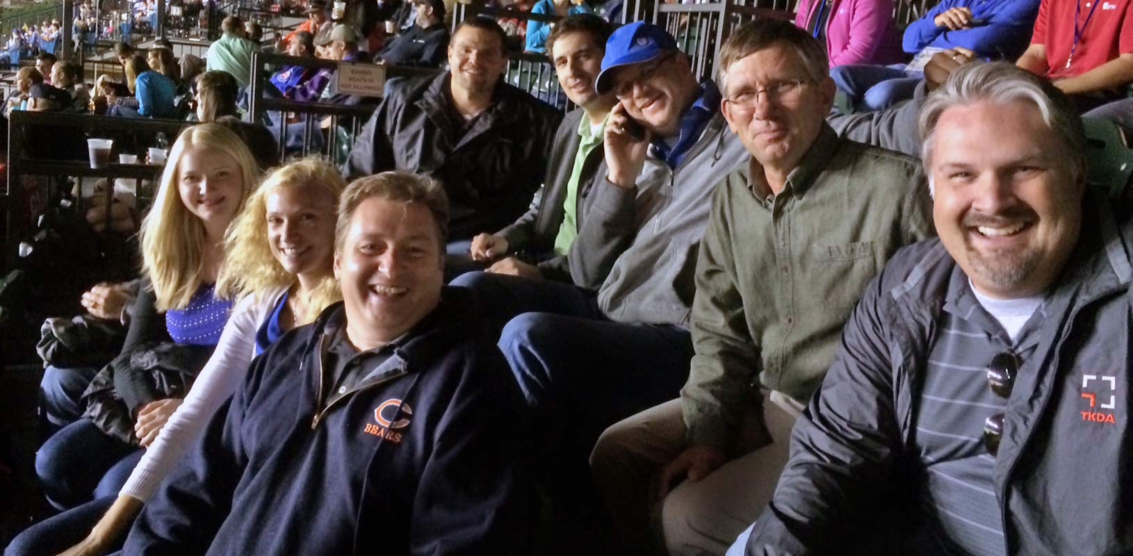 TKDA employees at baseball game