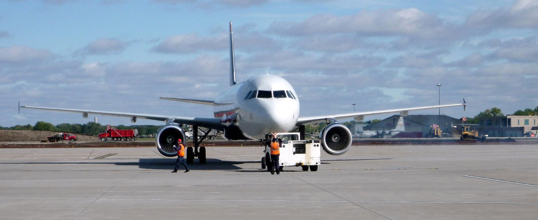 Jet plane at airport