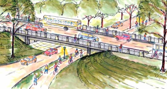 Urban Park Area Illustration