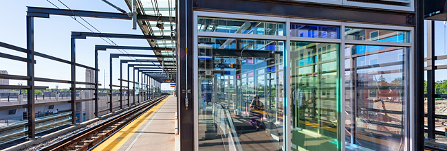 Photo of LRT station