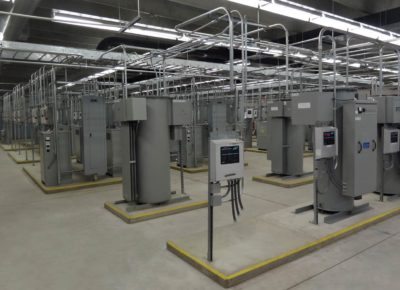 Interior photo of electrical building