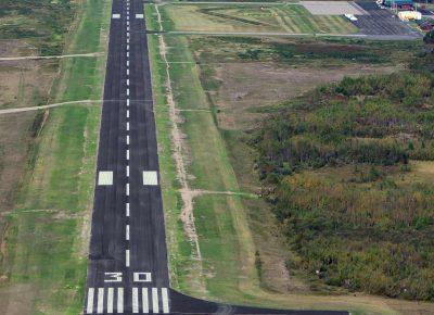 Runway at Ely Municipal Airport