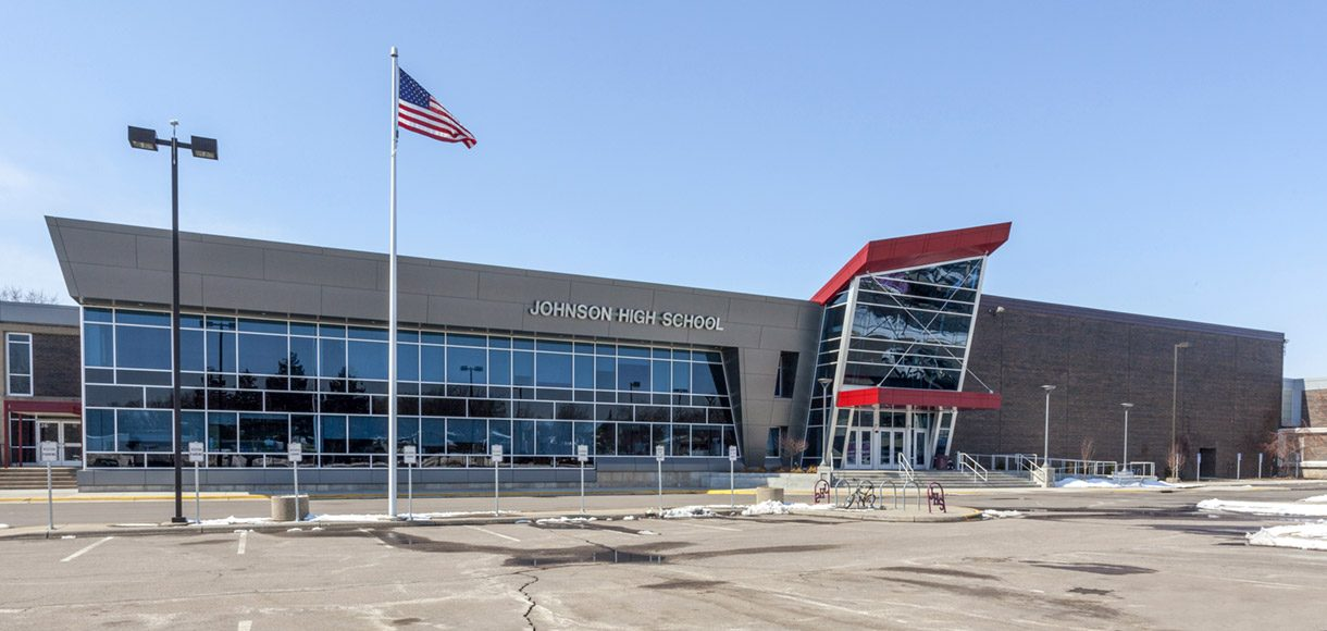 Exterior view of Johnson High School