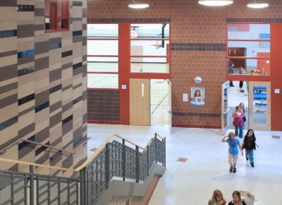 Interior photo of Piedmont school
