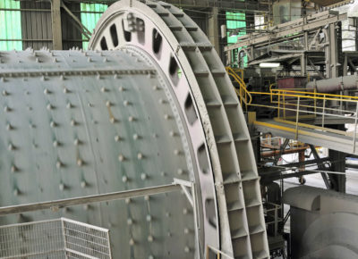 Photo of a mining plant grinder