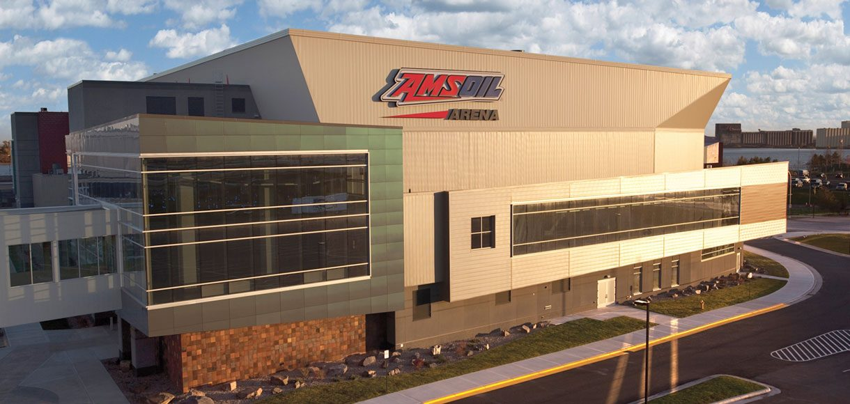 Exterior of AMSOIL Arena