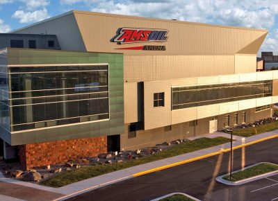 Exterior photo of AMSOIL Arena
