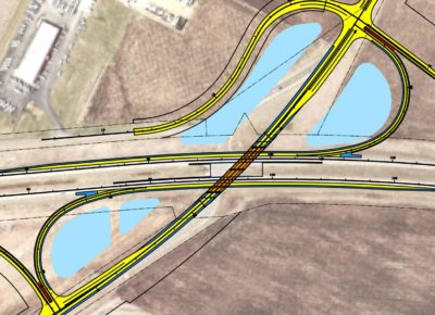Image of TH 52/CSAH 86 interchange drainage ponds