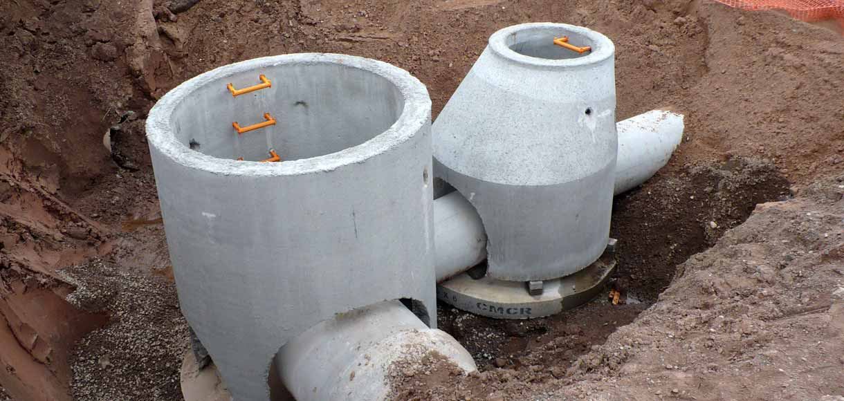 Photo of storm sewer pipes