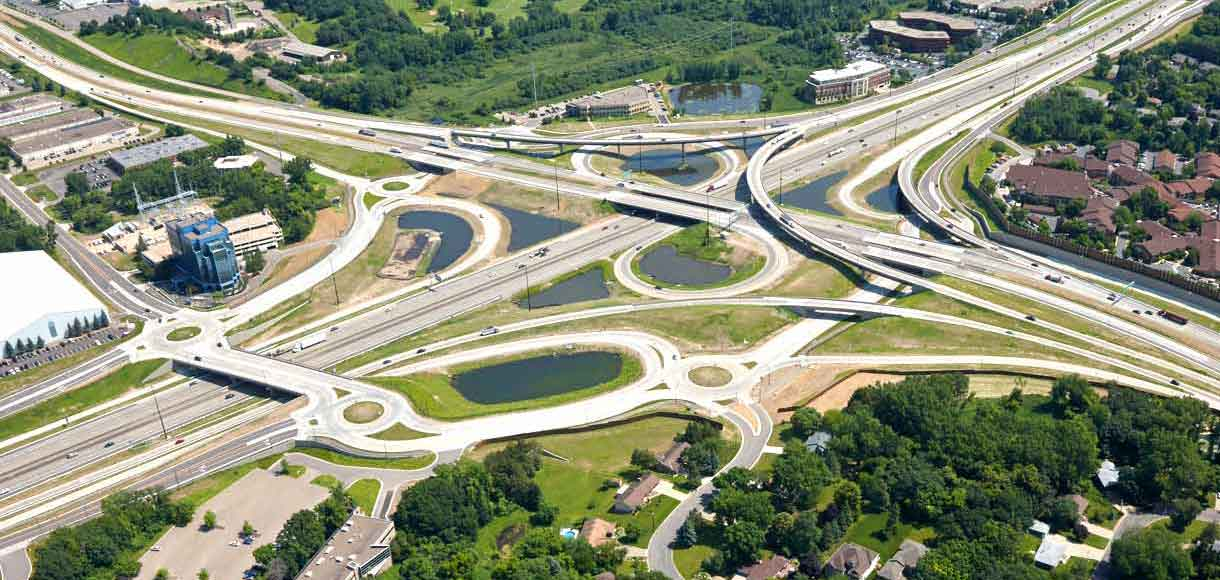 Aerial photo of TH 169/I-494 interchange