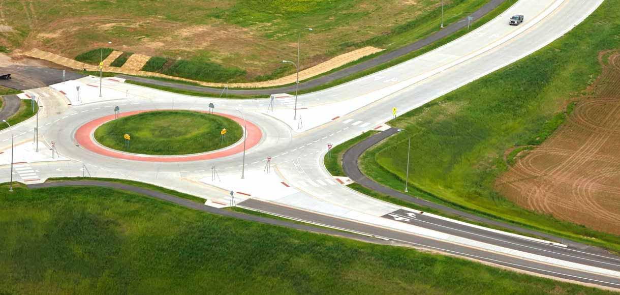 Photo Elk Run roundabout