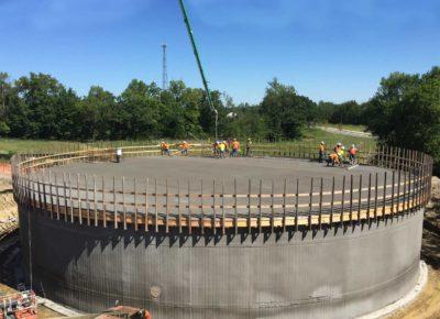 Ground storage reservoir construction project