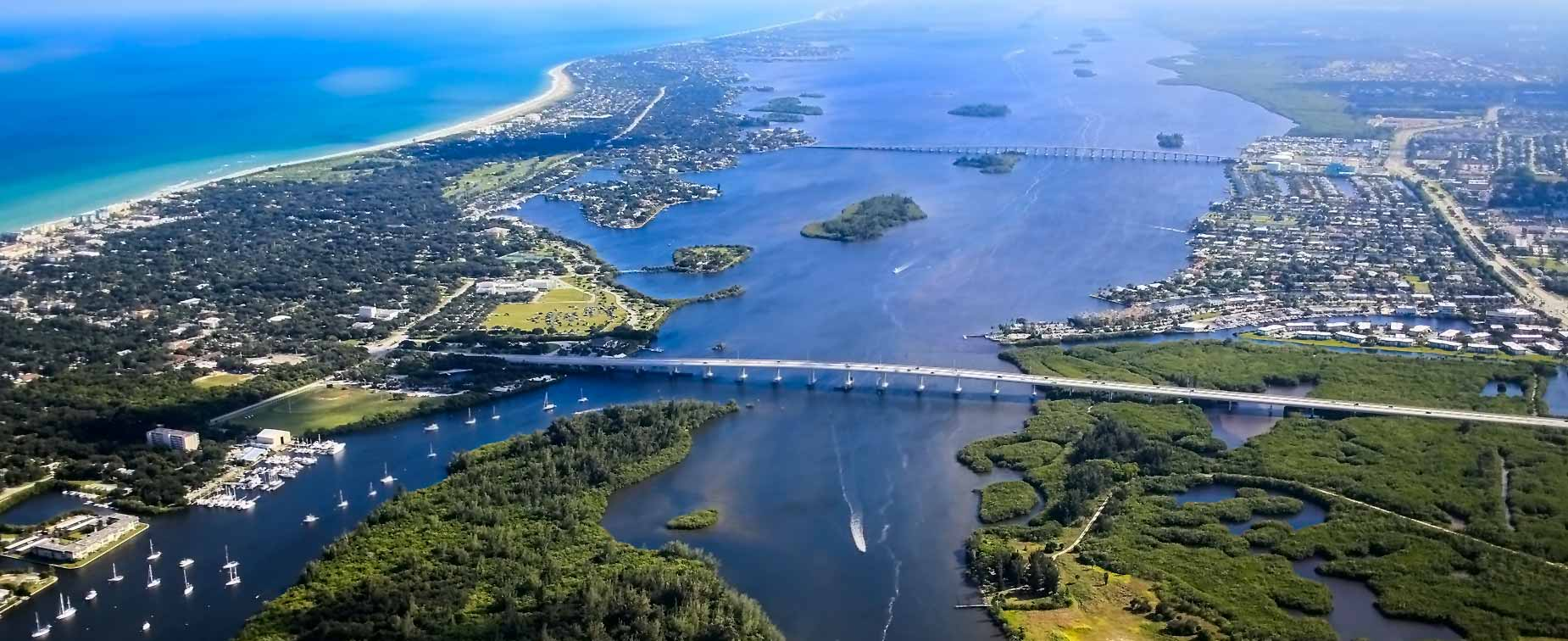 Aerial photo of Vero Beach, Florida