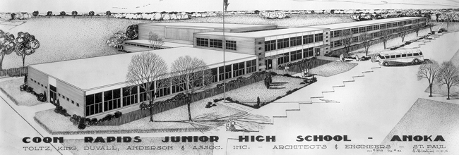 Rendering of Coon Rapids Junior High School