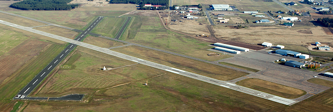 Aerial photo of Park Rapids Municipal Airport