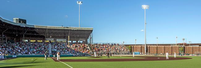 Photo of baseball game at Wade Stadium