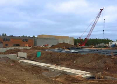 Hermantown Schools construction foundation