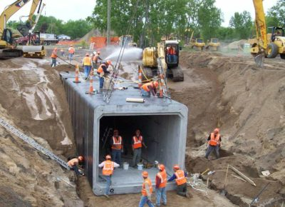 Construction of North Star Railway Tunnel in Fridley, MN