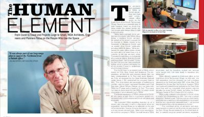 "Image of first two pages of ""The Human Element"" article"