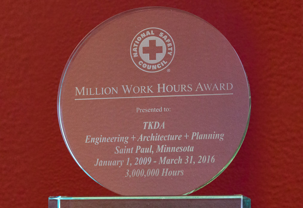 Photo of safety award