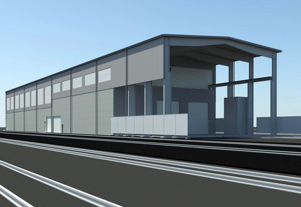 Rendering of Seattle Locomotive Shop