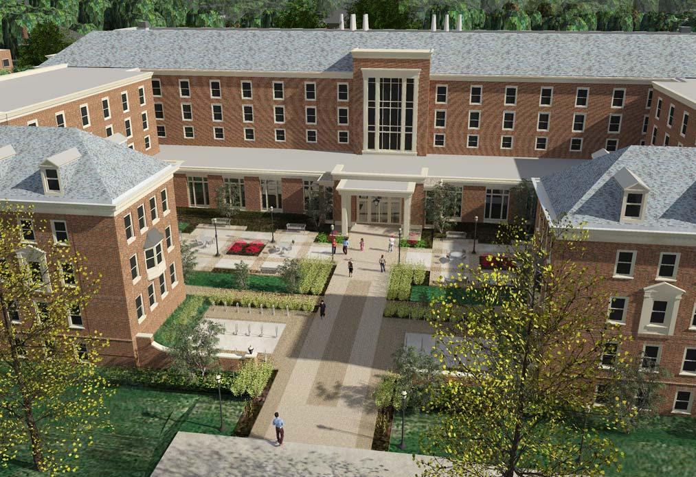 North view rendering of Pioneer Hall