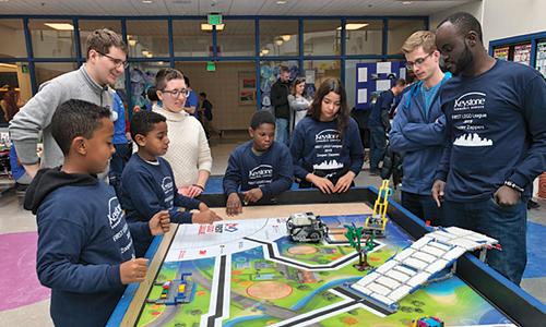 TKDA volunteers at Lego League event