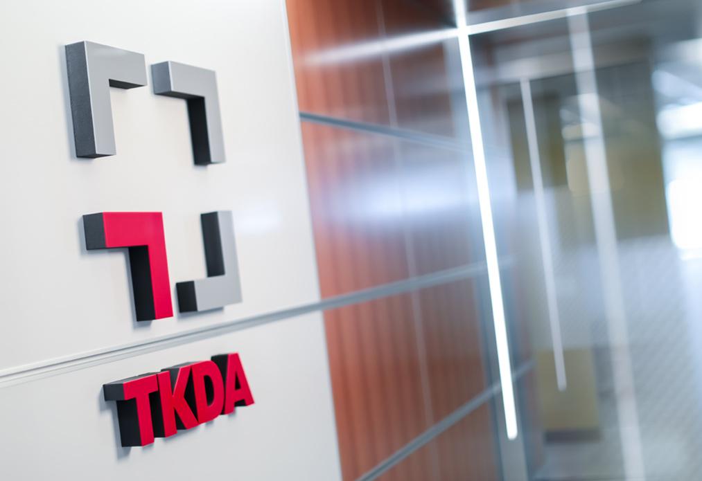 Entryway into TKDA Saint Paul, MN office