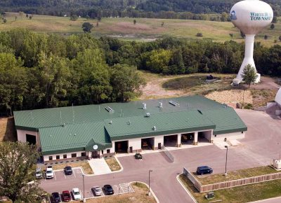 Aerial view of the White Bear Township Public Works facility