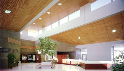 Interior of Rochester Public Utilities building