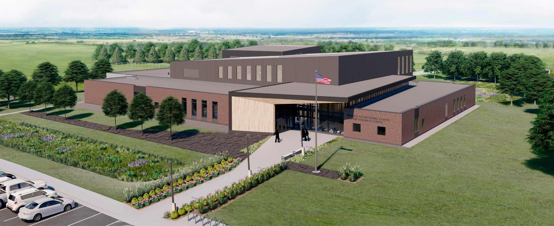 Exterior of Minnesota National Guard Luverne Readiness Center