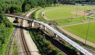Aerial view of Robert Piram Regional Trail